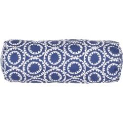 """Jaipur Living Ring A Bell Blue/White Geometric Indoor/ Outdoor Throw Pillow 18"""""""