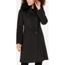 Tahari Double-Breasted Faux-Fur-Collar Coat found on MODAPINS from Macys CA for USD $231.77