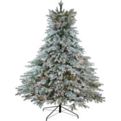 Northlight 6.5' Pre-Lit Flocked Jasper Balsam Fir Artificial Christmas Tree - Clear Lights