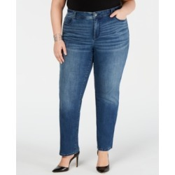 Inc Plus Size Tummy Control Straight-Leg Jeans, Created for Macy's found on Bargain Bro Philippines from Macy's for $55.65