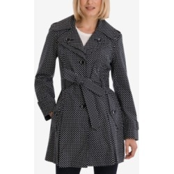 London Fog Polka-Dot Hooded Belted Trench Coat found on MODAPINS from Macys CA for USD $118.19