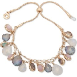 Anne Klein Gold-Tone Multi-Stone Slider Bracelet