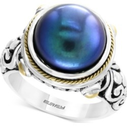 Effy Dyed Cultured Freshwater Pearl (12mm) Ring in Sterling Silver & 18k Gold Over Silver found on Bargain Bro India from Macy's Australia for $364.62