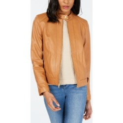 Cole Haan Seamed Leather Jacket found on MODAPINS from Macy's for USD $359.99