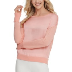 Dkny Satin-Front Sweater found on MODAPINS from Macy's for USD $47.40