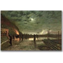 John Atkinson Grimshaw 'In Peril' Canvas Art - 32