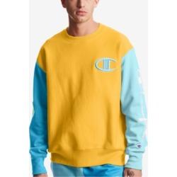 Champion Men's Colorblocked Logo Script Sleeve Sweatshirt found on Bargain Bro India from Macy's for $25.93