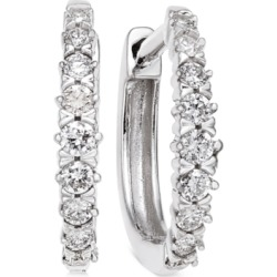 Diamond Hoop Earrings (1/4 ct. t.w.) in 14k White Gold found on Bargain Bro India from Macy's for $552.50