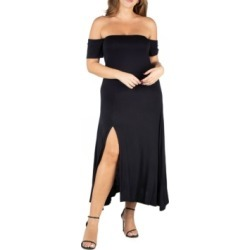 24seven Comfort Apparel Women's Plus Size Off Shoulder Dress found on Bargain Bro Philippines from Macy's for $76.99