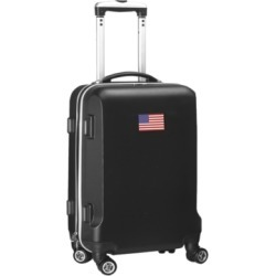 "Mojo Licensing 21"" Carry-On Hardcase Spinner Luggage - American Flag"