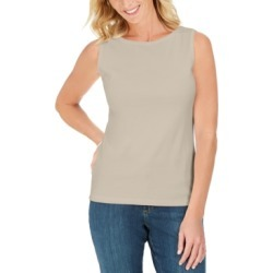 Karen Scott Cotton Boat-Neck Tank Top, Created For Macy's found on Bargain Bro Philippines from Macy's Australia for $13.73