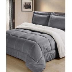 Ultimate Luxury Reversible Micromink and Sherpa Queen Bedding Comforter Set Bedding