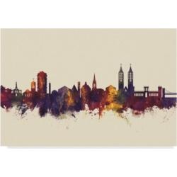 "Michael Tompsett Kassel Germany Skyline Iii Canvas Art - 37"" x 49"""