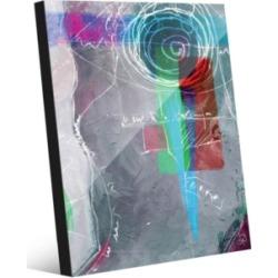 "Creative Gallery Potaru in Grey Abstract 20"" x 24"" Acrylic Wall Art Print"