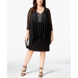Connected Plus Size Lace & Sheer Jacket Dress found on Bargain Bro India from Macys CA for $93.27