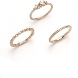 Givenchy Gold-Tone 3-Pc. Set Crystal Stack Rings found on Bargain Bro India from Macy's for $49.30