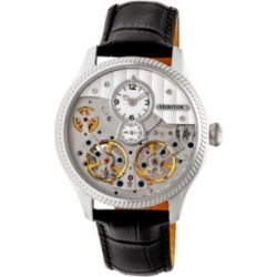 Heritor Automatic Winthrop Silver Leather Watches 41mm found on Bargain Bro Philippines from Macy's Australia for $277.81