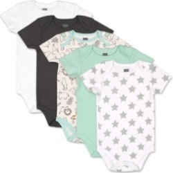 The Peanutshell Baby Boys and Girls Safari 5 Pack Short Sleeve Bodysuits found on Bargain Bro India from Macy's for $27.99