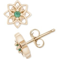 Emerald Flower Stud Earrings (1/20 ct. t.w.) in 14k Gold found on Bargain Bro Philippines from Macy's for $500.00