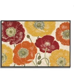 Tangletown Fine Art A Poppy's Touch I Spice by Daphne Brissonnet Fine Art Giclee Print on Gallery Wrap Canvas, 47