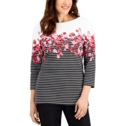 Karen Scott Mixed-Print Top, Created for Macy's