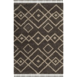 Safavieh Moroccan Fringe Shag Gray and Cream 8' X 10' Area Rug found on Bargain Bro from Macy's for USD $972.80