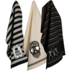 Design Imports Halloween Embroidered Witching Dishtowels Set