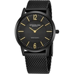 Stuhrling Original Stainless Steel Black Pvd Case on Mesh Bracelet, Black Dial, With Gold Tone Accents found on Bargain Bro Philippines from Macy's Australia for $112.82
