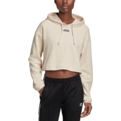 adidas Originals Women's Cotton Cropped Hoodie found on Bargain Bro from Macy's for USD $45.60