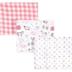 Hudson Baby Boys and Girls Swaddle Blankets, 3 Piece Set