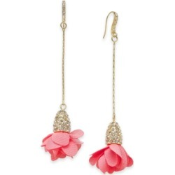 Inc Gold-Tone Pave & Fabric Flower Linear Drop Earrings, Created for Macy's found on Bargain Bro Philippines from Macy's for $22.12
