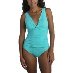 La Blanca Twist-Front One-Piece Swimsuit Women's Swimsuit found on MODAPINS from Macy's Australia for USD $121.75