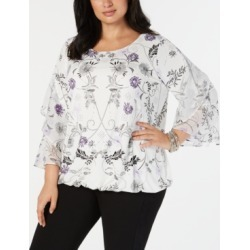 Alfani Plus Size Ruffled-Sleeve Top, Created for Macy's found on Bargain Bro India from Macys CA for $50.55