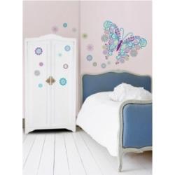 Social Butterfly Wall Art Kit