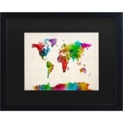 Michael Tompsett Watercolor World Map Ii Matted Framed Art - 15