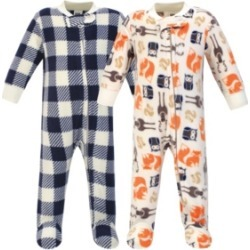 Hudson Baby Baby Girls and Boys Forest Fleece Sleep and Play