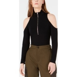 Waisted Zip-Front Cold-Shoulder Bodysuit found on MODAPINS from Macy's Australia for USD $31.83
