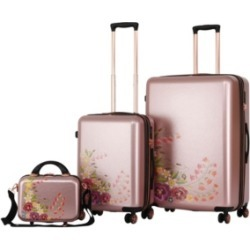 Triforce Luggage Fiori 3-Pc. Spinner Luggage Set