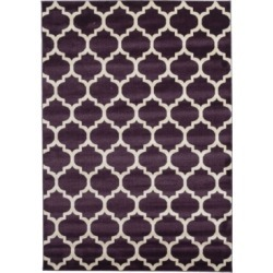 Bridgeport Home Arbor Arb1 Purple 7' x 10' Area Rug found on Bargain Bro India from Macy's for $200.50