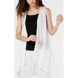 Eileen Fisher Organic Cotton Open-Front Vest found on MODAPINS from Macy's for USD $178.00