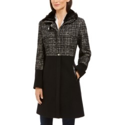 Via Spiga Tweed Faux-Fur-Collar Coat found on MODAPINS from Macy's for USD $279.99