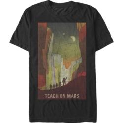 Fifth Sun Nasa Men's Teach On Mars Poster Short Sleeve T- shirt