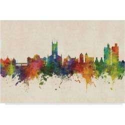Michael Tompsett Stoke-On-Trent England Skyline Canvas Art - 20
