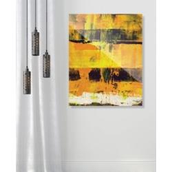 "Creative Gallery Shikoku in Yellow Abstract 24"" x 36"" Acrylic Wall Art Print"