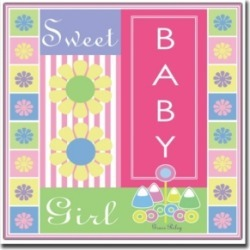 Sweet Baby Girl by Grace Riley-Framed Canvas Art - 24