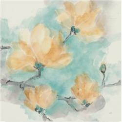 Chris Paschke Teal Buds Iv Canvas Art - 15