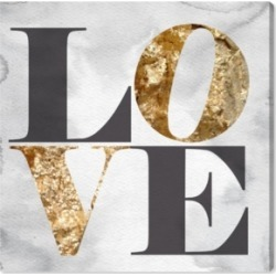 """Oliver Gal Build on Love Stone Canvas Art - 16"""" x 16"""" x 1.5"""""""