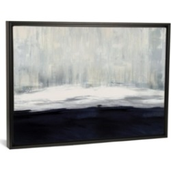 """iCanvas White on Blue by Taylor Hamilton Gallery-Wrapped Canvas Print - 26"""" x 40"""" x 0.75"""""""