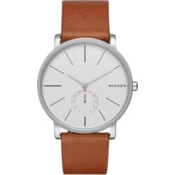 Skagen Men's Hagen Stainless Steel Brown Leather Watch 40mm