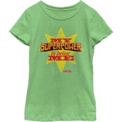 Fifth Sun Marvel Big Girls Captain Marvel My Superpower Is Being Me Short Sleeve T-Shirt found on Bargain Bro India from Macys CA for $23.08